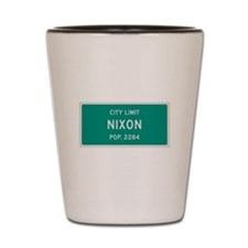 Nixon, Texas City Limits Shot Glass