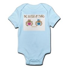 Big Sister Of Twins (boy/girl) Infant Bodysuit