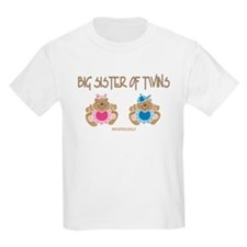 Big Sister Of Twins (boy/girl) Kids T-Shirt