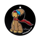 Drizzle the super hero dog! Ornament (Round)