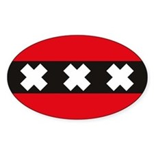 Amsterdam Flag Rectangle Stickers