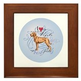 Cute Wire hair Framed Tile