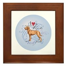Cute Hungarian pointer Framed Tile