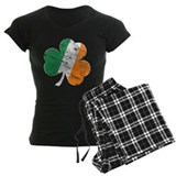 Vintage Distressed Irish Flag Shamrock Pajamas