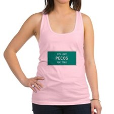 Pecos, Texas City Limits Racerback Tank Top