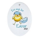 It's My First Easter '13 Ornament (Oval)