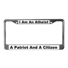 Atheist, Patriot, Citizen License Plate Frame