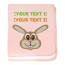 PERSONALIZE Easter Bunny baby blanket