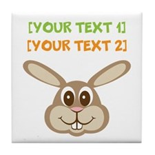PERSONALIZE Easter Bunny Tile Coaster