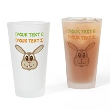 PERSONALIZE Easter Bunny Drinking Glass
