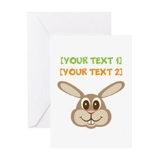 PERSONALIZE Easter Bunny Greeting Card