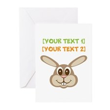 PERSONALIZE Easter Bunny Greeting Cards (Pk of 10)