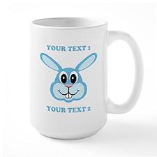 PERSONALIZE Blue Bunny Mug