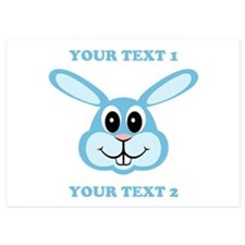 PERSONALIZE Blue Bunny Invitations