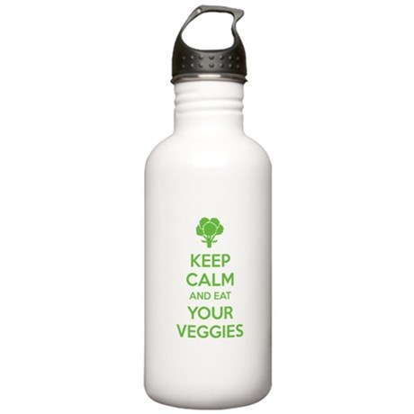 Keep calm and eat your veggies Stainless Water Bot