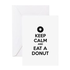 Keep calm and eat a donut Greeting Card