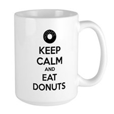 Keep calm and eat donuts Mug