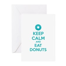 Keep calm and eat donuts Greeting Cards (Pk of 10)