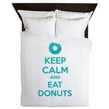 Keep calm and eat donuts Queen Duvet