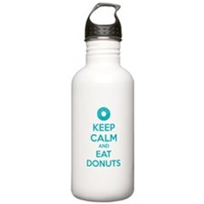 Keep calm and eat donuts Water Bottle