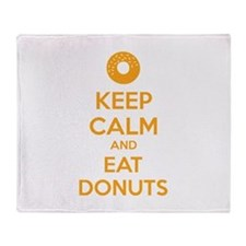 Keep calm and eat donuts Throw Blanket