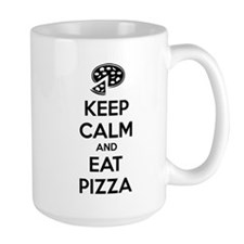 Keep calm and eat pizza Mug