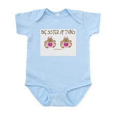 Big Sister Of Twins (2 Girls) Infant Bodysuit