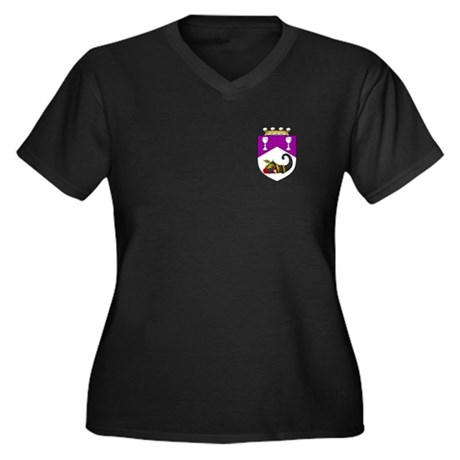 Helene's Women's Plus Size V-Neck Dark T-Shirt
