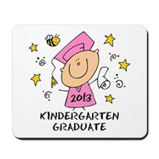 Cute Girl Kindergarten Grad 2013 Mousepad