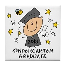 Cute Boy Kindergarten Grad 2013 Tile Coaster