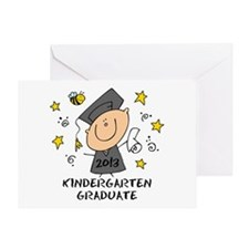 Cute Boy Kindergarten Grad 2013 Greeting Card