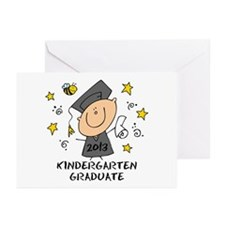 Cute Boy Kindergarten Grad 2013 Greeting Cards (Pk