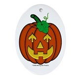 Jack-O-Lantern Arrow Oval Ornament