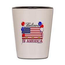 Believe in America Shot Glass