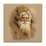 Old World Santa Tile Coaster