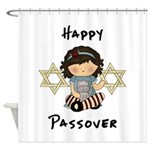 Passover Girl Matzoh Shower Curtain