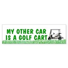 My other car is a golf cart Bumper sticker - grass