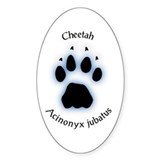 Cheetah Pawprint Decal