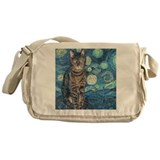 Unique Tabby cat Messenger Bag