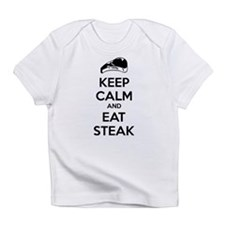 Keep calm and eat steak Infant T-Shirt
