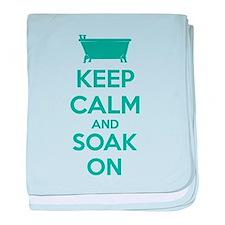 Keep calm and soak on baby blanket