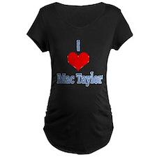 I heart Mac Taylor Maternity T-Shirt