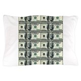 Hundred dollar bill Pillow Cases