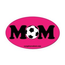 Oval Car Magnet- Soccer Mom PInk