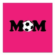 "design Square Car Magnet 3"" x 3"" Soccer"