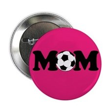 "design 2.25"" Button Soccer Mom PInk"