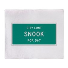 Snook, Texas City Limits Throw Blanket