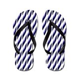 Deep Purple and White Flip Flops