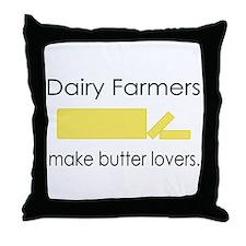 Dairy Farmers Make... Throw Pillow
