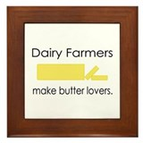 Dairy Farmers Make... Framed Tile